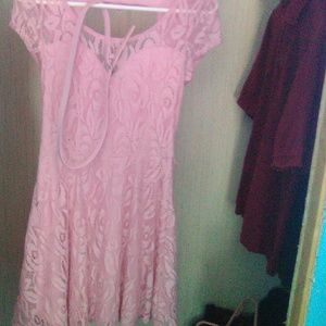 Pink lacey dress